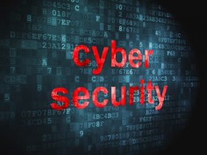 Security concept: Cyber Security on digital background